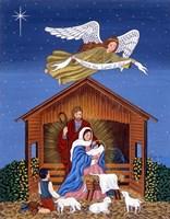 Primitive Nativity Fine Art Print