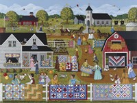 Annual Quilt Sale Fine Art Print