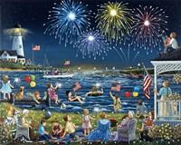 Seaside on the Fourth Fine Art Print