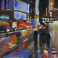 Broadway at Night Fine Art Print