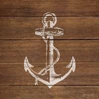 Anchor On Wood Fine Art Print