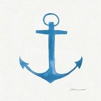 Anchor In Blue Fine Art Print