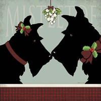 Scottie Mistletoe Fine Art Print