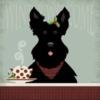 Scottie Winter Welcome Fine Art Print