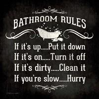 Bath Rules B&W Fine Art Print
