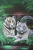 Fantasy Tigers Fine Art Print