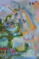 Rainbow Unicorns Fine Art Print