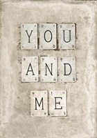 You And Me Fine Art Print