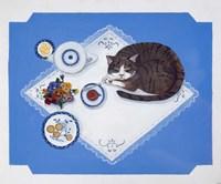 Tabby Loves Breakfast Fine Art Print