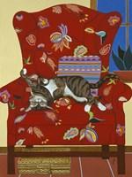 Ms. Kitty- A Lazy Afternoon Fine Art Print