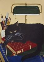 Literary Cat Fine Art Print