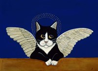 Angel Cat Framed Print