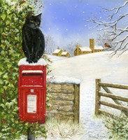 Christmas Post Box Fine Art Print