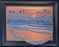 Sundown With Swans Fine Art Print