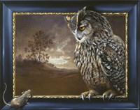 Eagle Owl And Mouse Fine Art Print