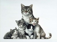 Cat Family Fine Art Print