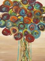 Abstract Flowers 1 Fine Art Print
