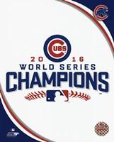 Chicago Cubs 2016 World Series Champions Logo Fine Art Print
