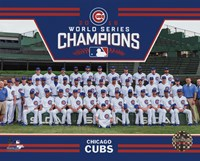 Chicago Cubs 2016 World Series Champions Team Sit Down Framed Print