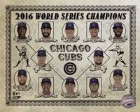 Chicago Cubs 2016 World Series Champions Vintage Composite Framed Print