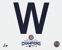 Cubs W 2016 World Series Champions Framed Print