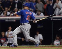 Miguel Montero RBI Single Game 7 of the 2016 World Series Fine Art Print