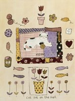 Cat Sat on the Mat Fine Art Print