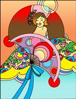 Art Deco Fan Lady Fine Art Print