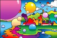 Bubbles Landscape Fine Art Print