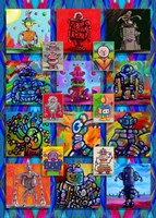 Pop Art Robots Fine Art Print