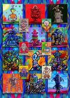 Pop Art Robots Fine Art Print