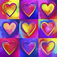 Pop Art Heart 2 Fine Art Print