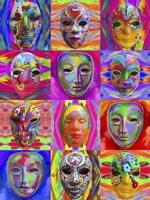Pop Art Masks Fine Art Print