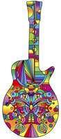 Pop Art Guitar Butterfly Fine Art Print