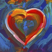 Pop Art Heart Icon Fine Art Print