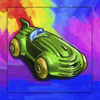 Pop Art Deco Race Car Toy Fine Art Print