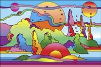 Pop Art Landscape 116 Fine Art Print