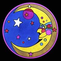Pop Art Moon Circle Fine Art Print