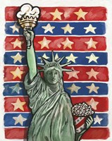 Popcorn Statue Of Liberty Fine Art Print