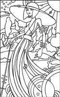 Art Deco Lady Stroll Fine Art Print