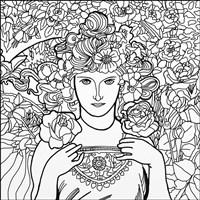 Mucha Lady 2 Fine Art Print
