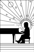 Piano Player 1 Fine Art Print