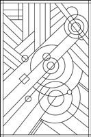 Pop Art Deco Panel 1 Lineart Fine Art Print