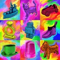 Pop Art Monopoly Pieces Fine Art Print