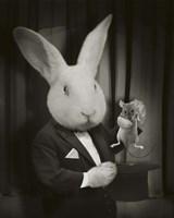Rabbit Magician Bw Fine Art Print