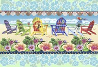 Coastal Chairs Floral Fine Art Print