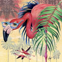 Cool Flamingoes Fine Art Print