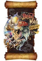 Dead Man Partyin Scroll Fine Art Print