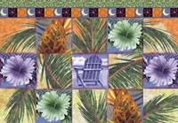 Quilt Palm Flower Mosaic Fine Art Print