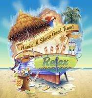 Shore Good Time Boat Fine Art Print